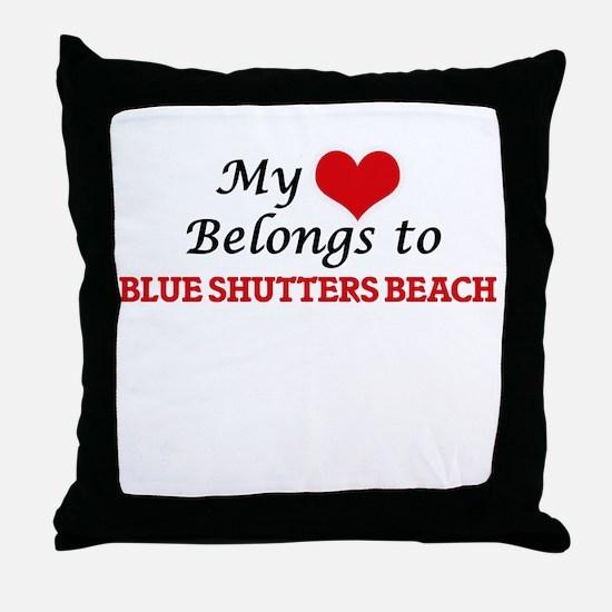 My Heart Belongs to Blue Shutters Bea Throw Pillow