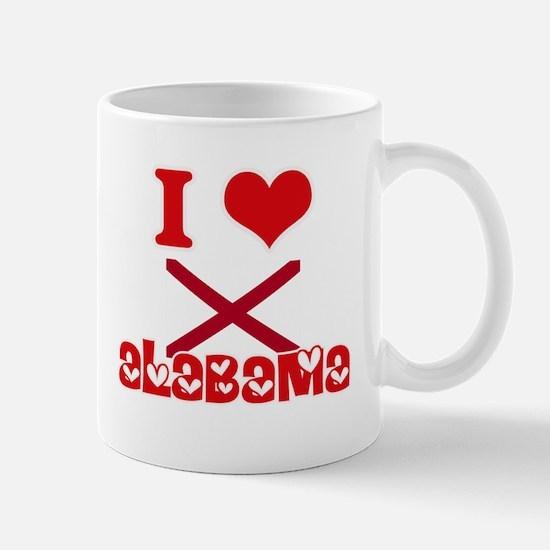 I Love Alabama Mugs