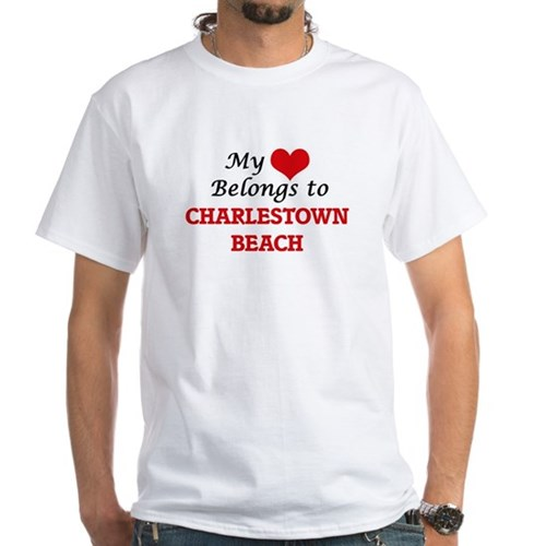 My Heart Belongs to Charlestown Beach Rhod T-Shirt