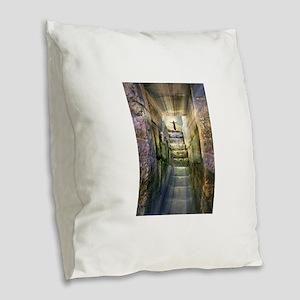 Easter Jesus Resurrection Empt Burlap Throw Pillow