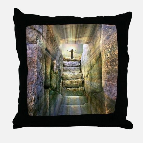 Easter Jesus Resurrection Empty Tomb Throw Pillow