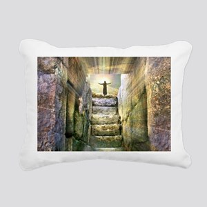 Easter Jesus Resurrectio Rectangular Canvas Pillow