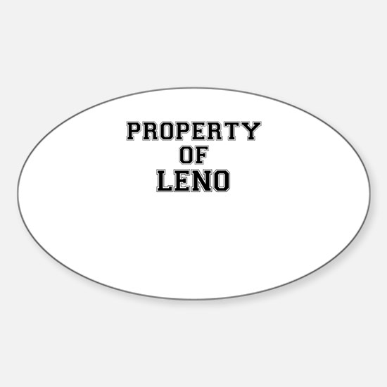 Property of LENO Decal