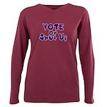 Vote Plus Size Long Sleeve Tee