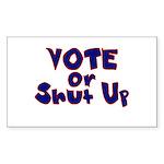 Vote Sticker (Rectangle 10 pk)