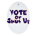 Vote Oval Ornament