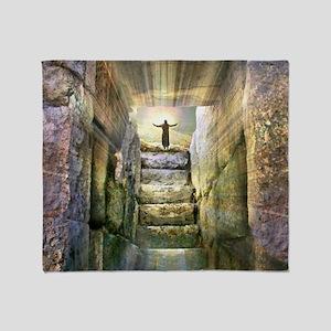Easter Jesus Resurrection Empty Tomb Throw Blanket