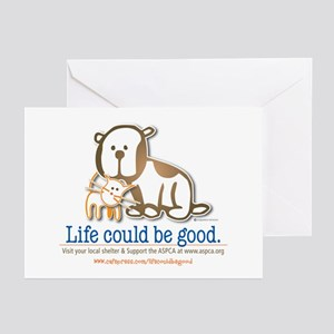Aspca greeting cards cafepress life could be good greeting cards pk of 20 m4hsunfo