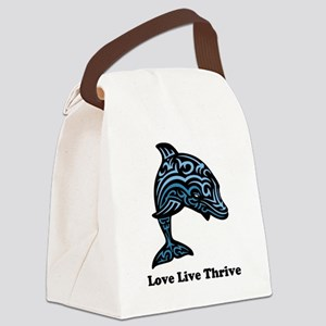bChill Love Live Thrive Canvas Lunch Bag