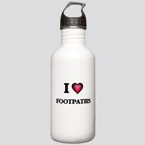 I love Footpaths Stainless Water Bottle 1.0L