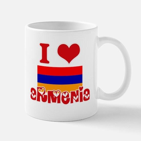 I Love Armenia Mugs