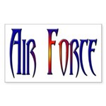 Air Force Rectangle Sticker