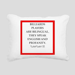 Billiards joke Rectangular Canvas Pillow