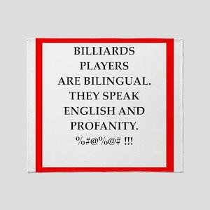Billiards joke Throw Blanket
