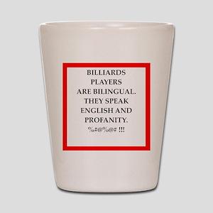 Billiards joke Shot Glass