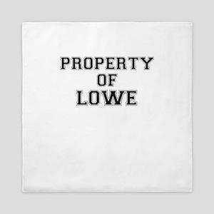 Property of LOWE Queen Duvet