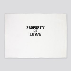 Property of LOWE 5'x7'Area Rug