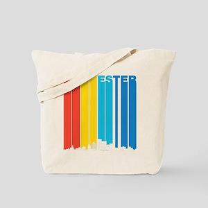 Retro Rochester New York Skyline Tote Bag
