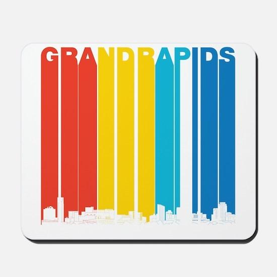 Retro Grand Rapids Michigan Skyline Mousepad