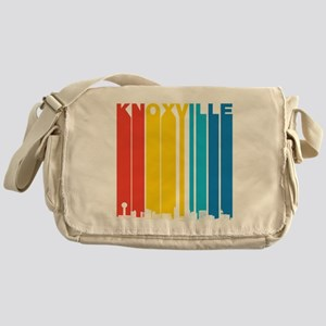 Retro Knoxville Tennessee Skyline Messenger Bag