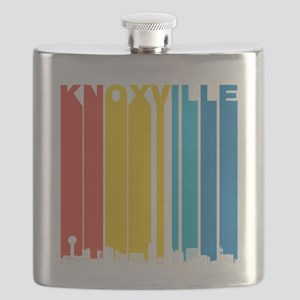 Retro Knoxville Tennessee Skyline Flask