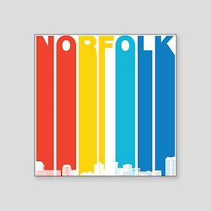 Retro Norfolk Virginia Skyline Sticker