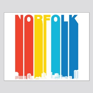 Retro Norfolk Virginia Skyline Posters