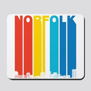 Retro Norfolk Virginia Skyline Mousepad