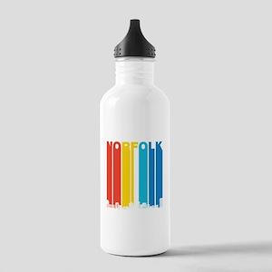 Retro Norfolk Virginia Skyline Water Bottle