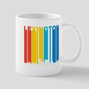 Retro Lexington Kentucky Skyline Mugs