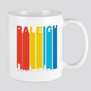 Retro Raleigh North Carolina Skyline Mugs