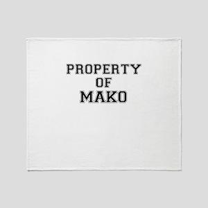 Property of MAKO Throw Blanket