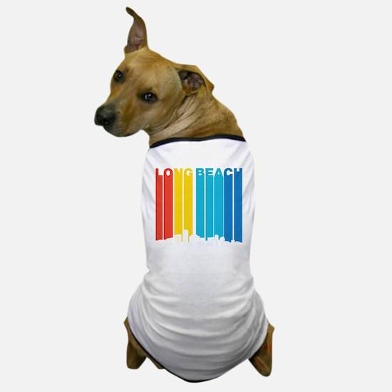 Retro Long Beach California Skyline Dog T-Shirt