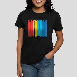 Retro Savannah Georgia Skyline T-Shirt