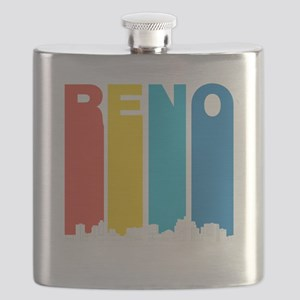 Retro Reno Nevada Skyline Flask