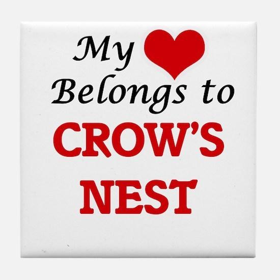 My Heart Belongs to Crow'S Nest Massa Tile Coaster