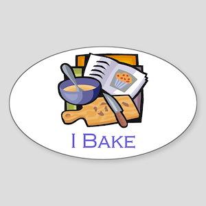 I Bake Muffins Oval Sticker