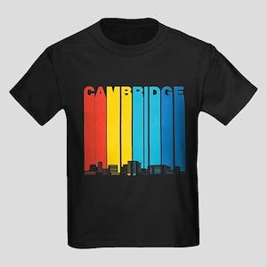 Retro Cambridge Massachusetts Skyline T-Shirt