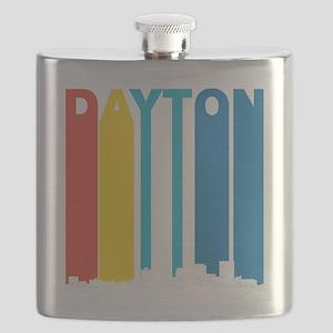 Retro Dayton Ohio Skyline Flask
