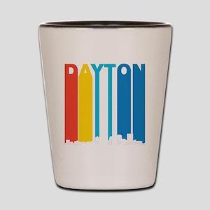 Retro Dayton Ohio Skyline Shot Glass