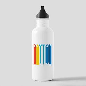 Retro Dayton Ohio Skyline Water Bottle