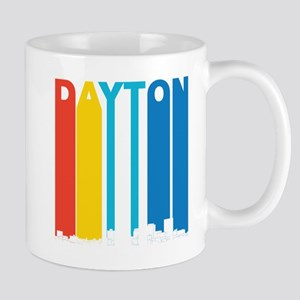 Retro Dayton Ohio Skyline Mugs