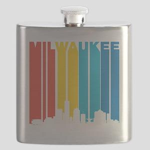 Retro Milwaukee Skyline Flask