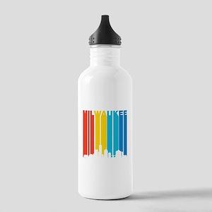 Retro Milwaukee Skyline Water Bottle