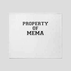 Property of MEMA Throw Blanket