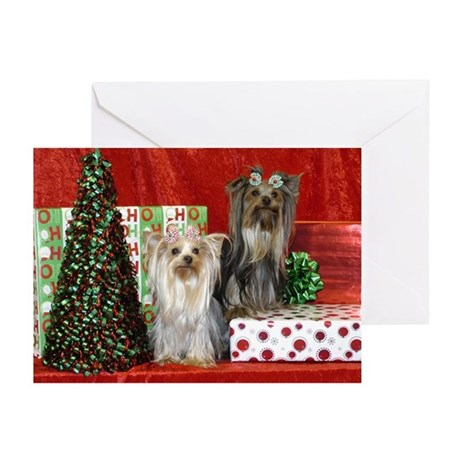 Yorkie Yorkshire Terrier Christmas Greeting Cards