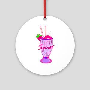 Ice Cream Soda  Ornament (Round)