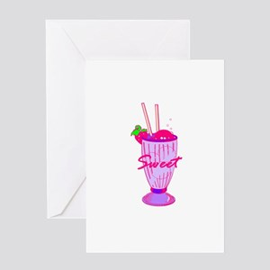 Ice Cream Soda Greeting Card