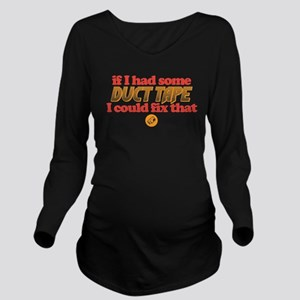 Duct Tape Long Sleeve Maternity T-Shirt