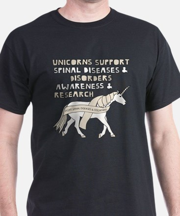 Unicorns Support Spinal Diseases & Disorde T-Shirt